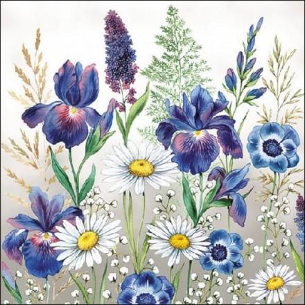 Χαρτοπετσέτα για Decoupage, Mixed Meadow Flowers / 13313235
