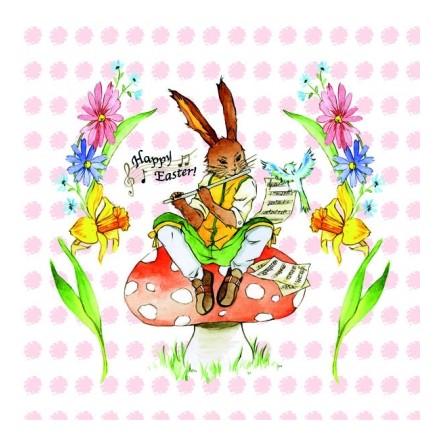 Πασχαλινή Χαρτοπετσέτα για Decoupage, Easter Song Rose / 23301611