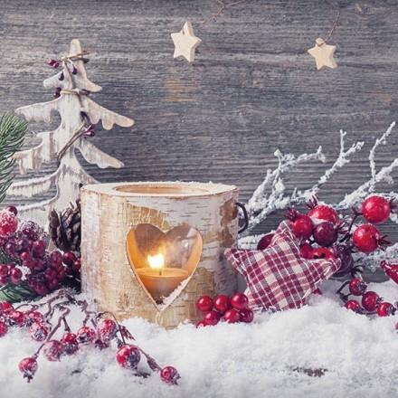 Χριστουγιεννιάτικη Χαρτοπετσέτα για Decoupage, Birch Candlelight / 33311950