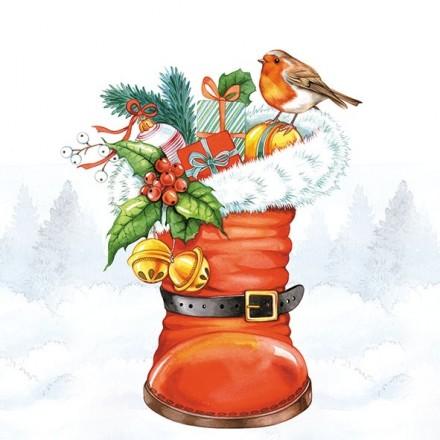 Χριστουγιεννιάτικη Χαρτοπετσέτα για Decoupage, Christmas Boot / 33311965