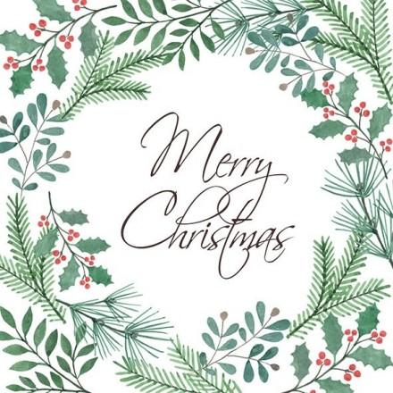Χριστουγιεννιάτικη Χαρτοπετσέτα για Decoupage, X-mas Wreath / 33311986