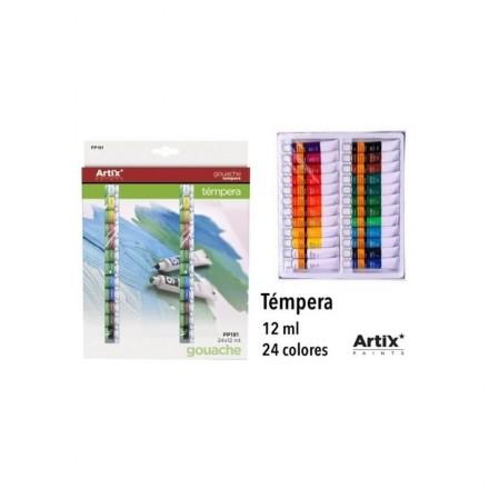 Σετ Χρώματα Gouache ARTIX PP191 12ml, 24 χρωμάτων