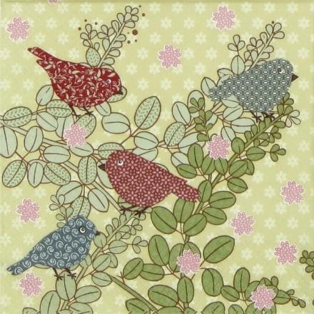 Χαρτοπετσέτα για Decoupage, Patchwork Birds / 1208-14293