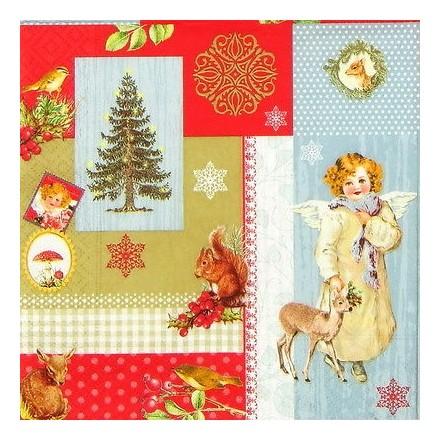 Χριστουγιεννιάτικη Χαρτοπετσέτα για Decoupage, Christmas Memories / LC0303