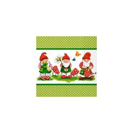 Χαρτοπετσέτα για Decoupage, Gnome Parade / LN0573