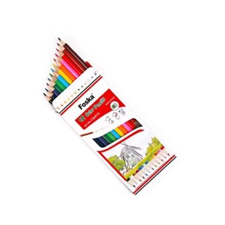 Σετ Ξυλομπογιές Foska 12 χρωμάτων