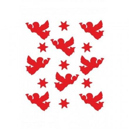 Στένσιλ (Stencil) Craftistico 20x30cm, 8 Αγγελάκια Με Αστέρια / CRSA4029