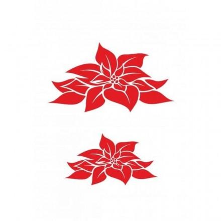 Στένσιλ (Stencil) Craftistico 20x30cm, Christmas Flowers / CRSA4041