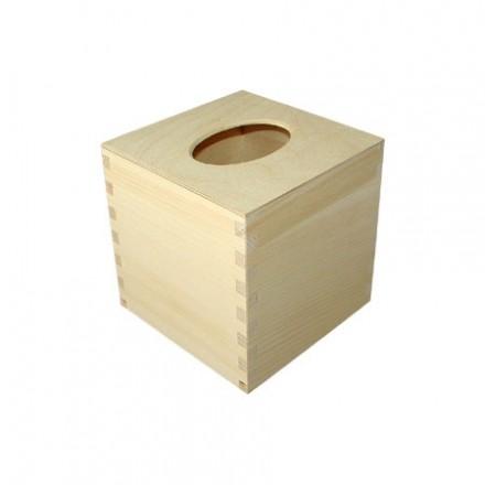 Κουτί για χαρτομάντηλα με σχήμα κύβου, 13,1*13,1*13,8cm