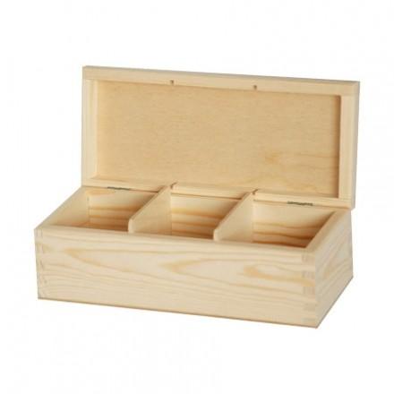 Ξύλινο Κουτί με 3 θήκες, 22*9,5*7,5cm