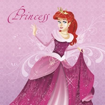 Χαρτοπετσέτα για Decoupage, Pink Princess with Red Hair / SDOG-027101