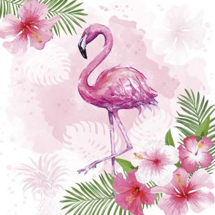 Χαρτοπετσέτα για Decoupage, Watercolour Flaming with Hibiscus Flowers / SDOG-028401