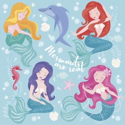 Χαρτοπετσέτα για Decoupage, Pastel Mermaids / SDOG-030601