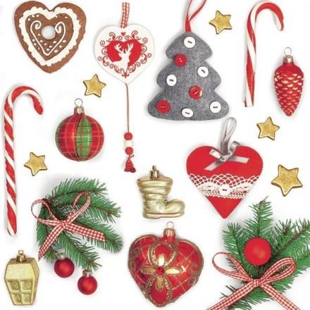 Χριστουγιεννιάτικη Χαρτοπετσέτα για Decoupage, Xmas Vintage Decors /  SDGW-009901