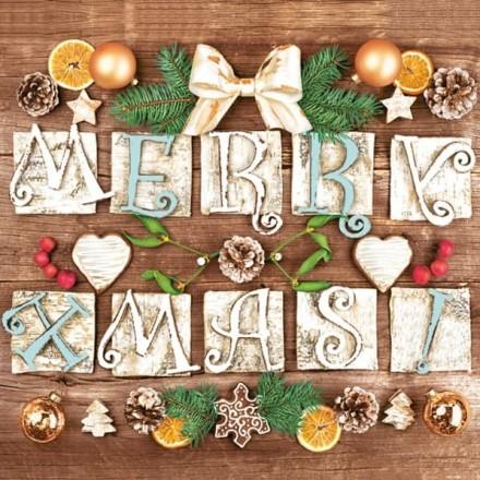 Χριστουγιεννιάτικη Χαρτοπετσέτα για Decoupage, Very Merry Xmas! /  SDGW-015801