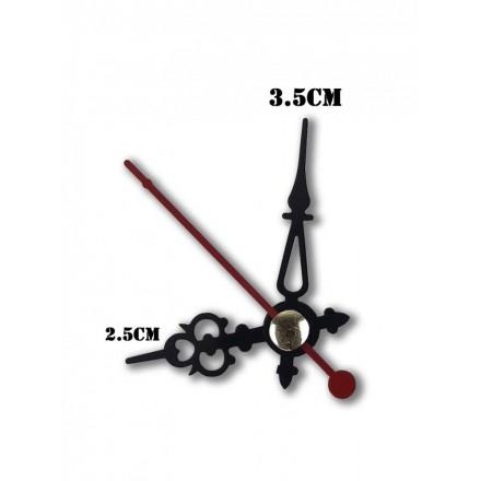 Δείκτες ρολογιών μεταλλικοί μαύροι 2.5-3.5cm