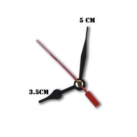 Δείκτες ρολογιών μεταλλικοί μαύροι 3.5-5cm