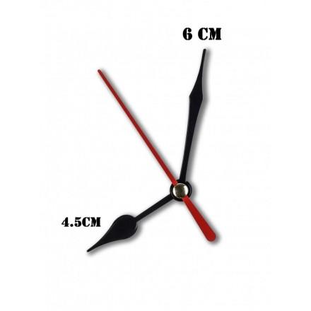 Δείκτες ρολογιών μεταλλικοί μαύροι 4.5-6cm