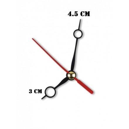 Δείκτες ρολογιών μεταλλικοί μαύροι 3-4.5cm