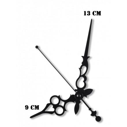 Δείκτες ρολογιών μεταλλικοί μαύροι 9-13cm