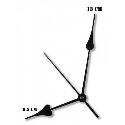 Δείκτες ρολογιών μεταλλικοί μαύροι 9.5-13cm