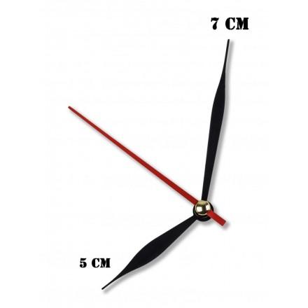 Δείκτες ρολογιών μεταλλικοί μαύροι 5-7cm