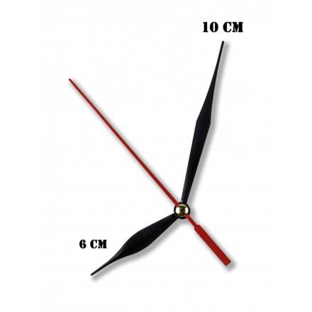 Δείκτες ρολογιών μεταλλικοί μαύροι 6-10cm