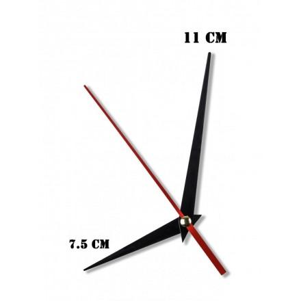 Δείκτες ρολογιών μεταλλικοί μαύροι 7.5-11cm