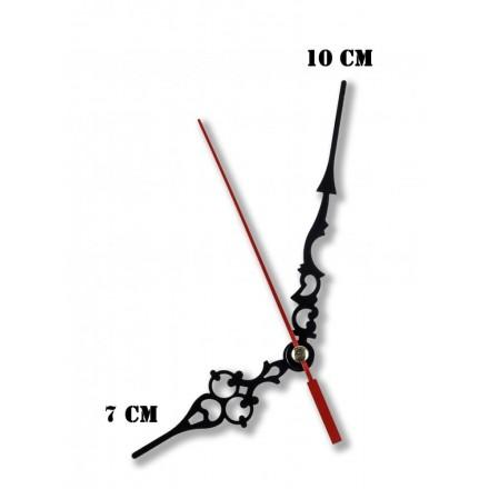 Δείκτες ρολογιών μεταλλικοί μαύροι 7-10cm