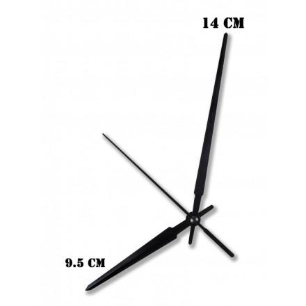 Δείκτες ρολογιών μεταλλικοί μαύροι 9.5-14cm