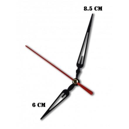 Δείκτες ρολογιών μεταλλικοί μαύροι 6-8.5cm