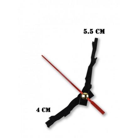 Δείκτες ρολογιών μεταλλικοί μαύροι 4-5.5cm