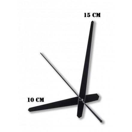 Δείκτες ρολογιών μεταλλικοί μαύροι 10-15cm