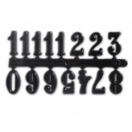 Πλαστικοί Αυτοκόλλητοι Αριθμοί Ρολογιού Μαύροι (ύψος 15mm)