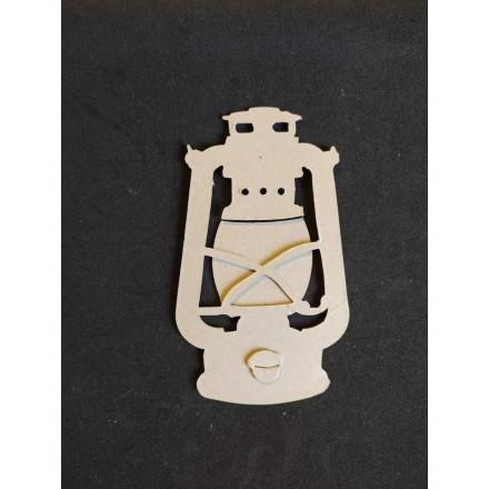 Διακοσμητικό Chipboard 12x7.5cm, Φανάρι