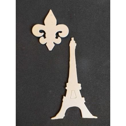 Διακοσμητικό Chipboard 13x7cm, Eiffel