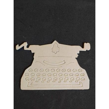 Διακοσμητικό Chipboard 13x8.5cm, Γραφομηχανή