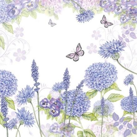 Χαρτοπετσέτα για Decoupage, Purple Wildflowers / 13309310