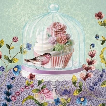 Χαρτοπετσέτα για Decoupage, Cupcake in Glass / 13309725