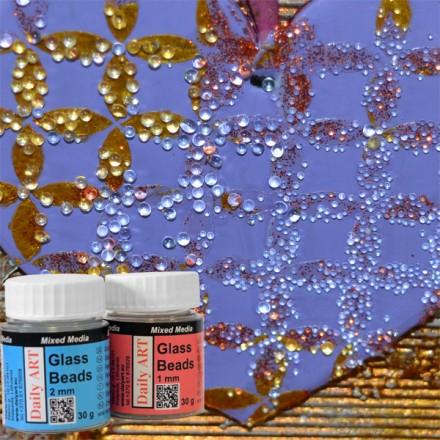 Glass Beads 2mm DailyArt  30gr