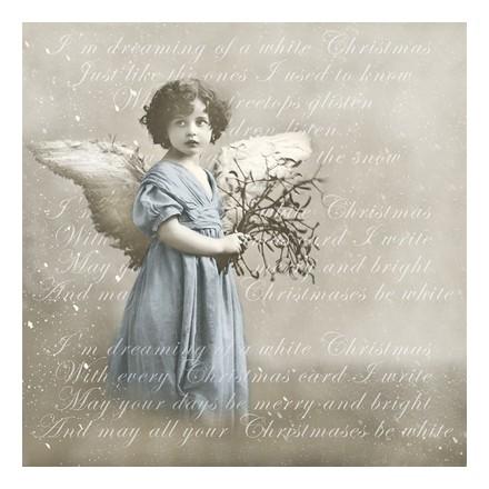 Vintage Χαρτοπετσέτα για Decoupage, Blue Angel / 80040