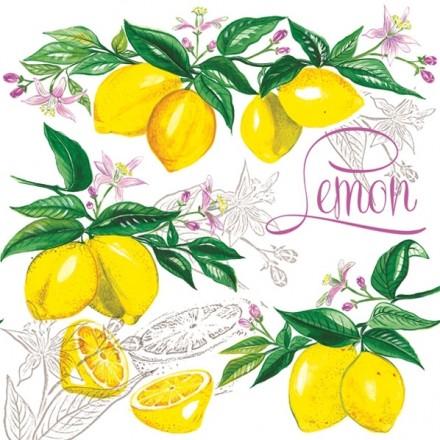 Χαρτοπετσέτα για Decoupage, Lemon / G-039701