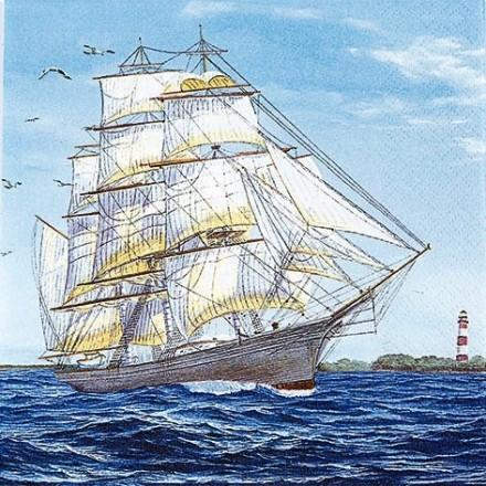 Χαρτοπετσέτα για Decoupage, Sailing Ship / 211407