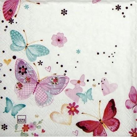 Χαρτοπετσέτα για Decoupage, Lovely Butterflies / 211413