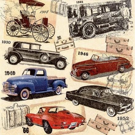 Χαρτοπετσέτα για Decoupage, Classic Cars / 211625