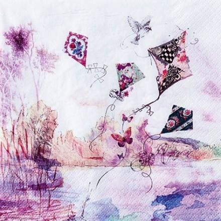 Χαρτοπετσέτα για Decoupage, Abstract Kites / 211700