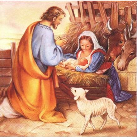 Χριστουγιεννιάτικη Χαρτοπετσέτα για Decoupage, Jesus Is Born / 611324