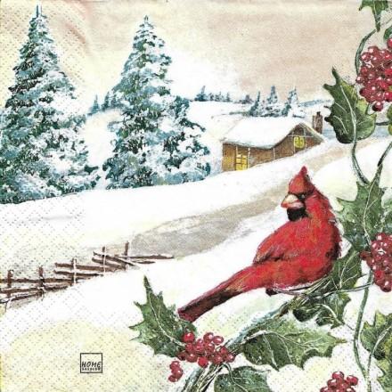 Χριστουγιεννιάτικη Χαρτοπετσέτα για Decoupage, Cardinal / HF-611503