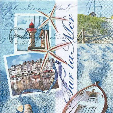 Χαρτοπετσέτα για Decoupage, Sur la Mer / 211122