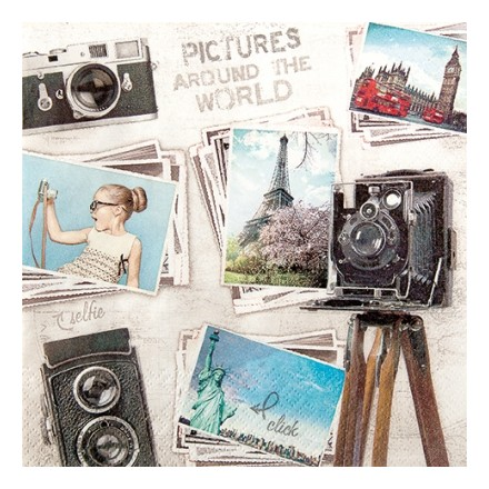 Χαρτοπετσέτα για Decoupage, Travelpictures